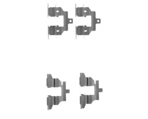 Пластина кріплення гальмівної колодки