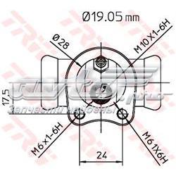 циліндр гальмівний колісний/робітник, задній  BWD119