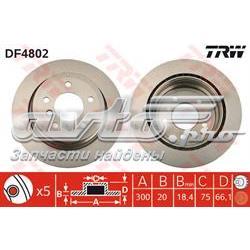 диск гальмівний задній  DF4802