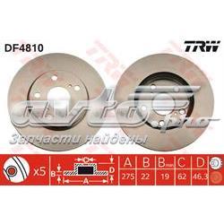 диск гальмівний передній  DF4810