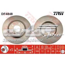 диск гальмівний задній  DF4848
