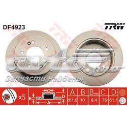 диск гальмівний задній  DF4923