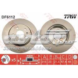 диск гальмівний задній  DF6112