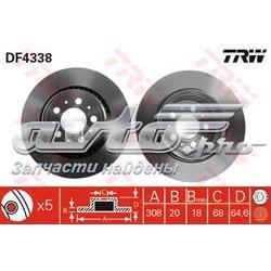 диск гальмівний задній  DF4338