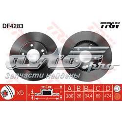 диск гальмівний передній  DF4283