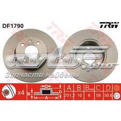 диск гальмівний задній  DF1790