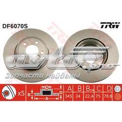 диск гальмівний задній  DF6070S