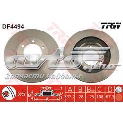 диск гальмівний передній  DF4494