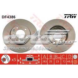 диск гальмівний передній  DF4386