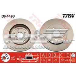 диск гальмівний передній  DF4493