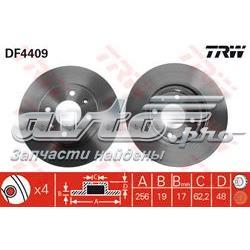 диск гальмівний передній  DF4409