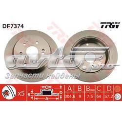 диск гальмівний задній  DF7374