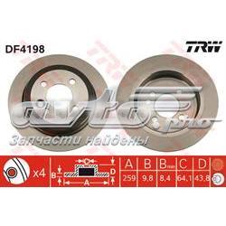 диск гальмівний задній  DF4198