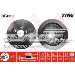 диск гальмівний задній  DF4353