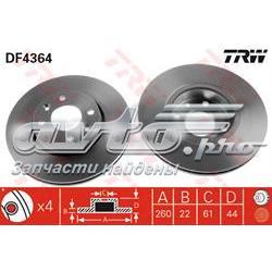 диск гальмівний передній  DF4364
