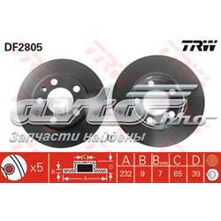 диск гальмівний задній  DF2805