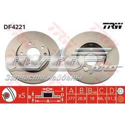 диск гальмівний передній  DF4221