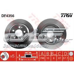 диск гальмівний задній  DF4356