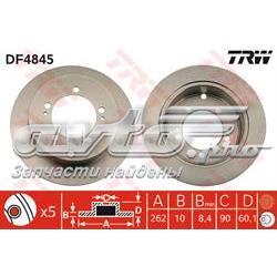 диск гальмівний задній  DF4845