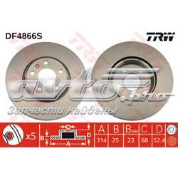 диск гальмівний передній  DF4866S
