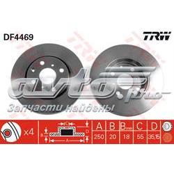 диск гальмівний передній  DF4469