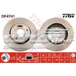 диск гальмівний передній  df4741