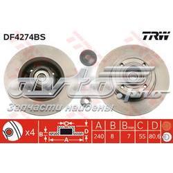 диск гальмівний задній  DF4274BS