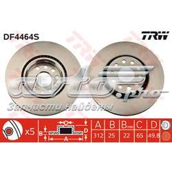 диск гальмівний передній  DF4464S