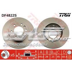 диск гальмівний передній  DF4822S