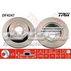 диск гальмівний задній  DF4247