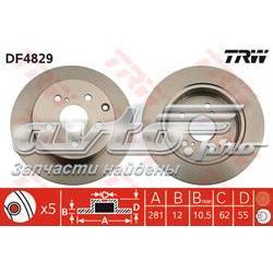 диск гальмівний задній  DF4829