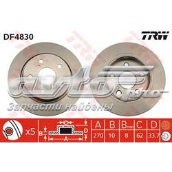 диск гальмівний задній  DF4830