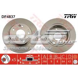 диск гальмівний задній  DF4837