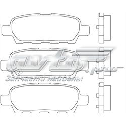 колодки гальмові задні, дискові  P56046