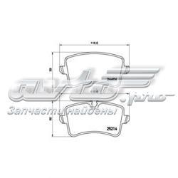 колодки гальмові задні, дискові  P85120