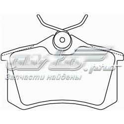 колодки гальмові задні, дискові  P85017