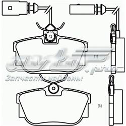 колодки гальмові задні, дискові  P85046