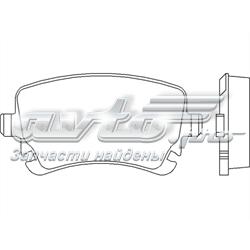 колодки гальмові задні, дискові  P85076