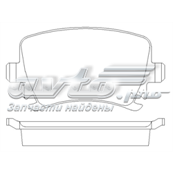 колодки гальмові задні, дискові  P85095