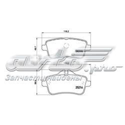 колодки гальмові задні, дискові  P50100