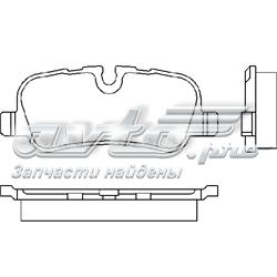 колодки гальмові задні, дискові  P44013