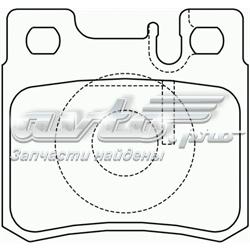 колодки гальмові задні, дискові  P50009