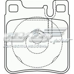 колодки гальмові задні, дискові  P50017