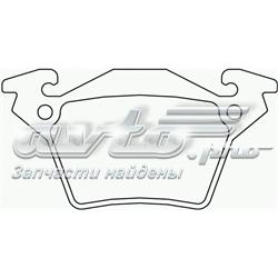 колодки гальмові задні, дискові  p50032
