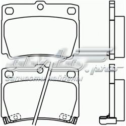 колодки гальмові задні, дискові  P54026