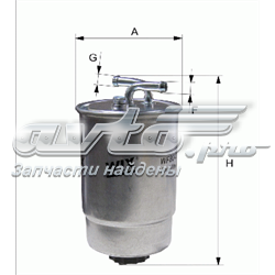 фільтр паливний  wf8044