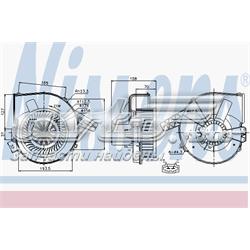 двигун вентилятора пічки (обігрівача салону)  87028