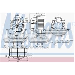 двигун вентилятора пічки (обігрівача салону)  87139