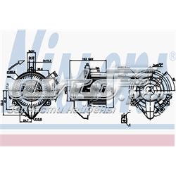 двигун вентилятора пічки (обігрівача салону)  87131