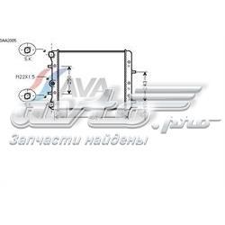 радіатор охолодження двигуна  SAA2005